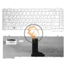 Клавиатура для ноутбука Toshiba Satellite C600 белая RU