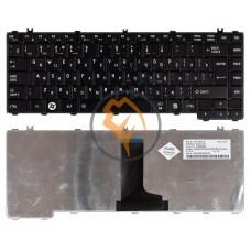 Клавиатура для ноутбука Toshiba Satellite C600 C640 C645 L600 L630 вертикальный enter, черная RU