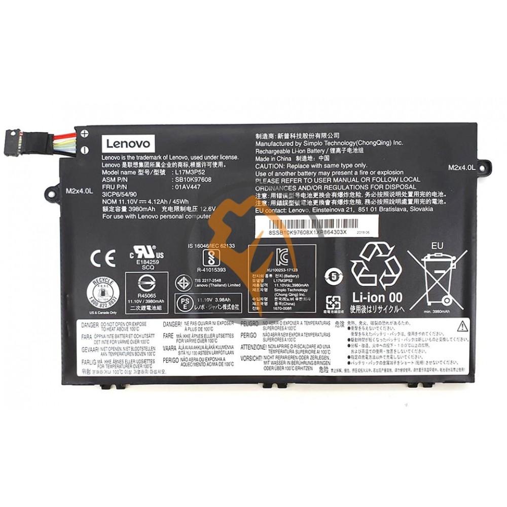 Оригинальная аккумуляторная батарея Lenovo L17M3P51 ThinkPad E480 E580 45Wh