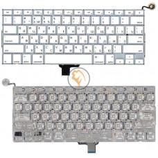 Клавиатура для ноутбука Apple A1342 горизонтальный enter, белая RU